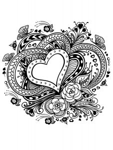 Valentines Day Hearts Coloring Pages - 20 Free Printable Valentines Adult Coloring Pages 10e