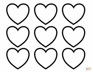 Valentines Day Hearts Coloring Pages - Hearts Color New Valentines Day Blank Coloring Page Free Printable with 18m