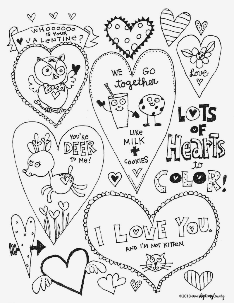 25 Valentines Day Hearts Coloring Pages Collection