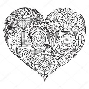Valentines Day Hearts Coloring Pages - Fresh Depositphotos Stock Illustration Heart Flowers for Best Coloring Page for Adult Od 3r