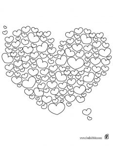 Valentines Day Hearts Coloring Pages - Free Valentine to Color 10c
