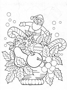 Vintage Christmas Coloring Pages - 1 12s