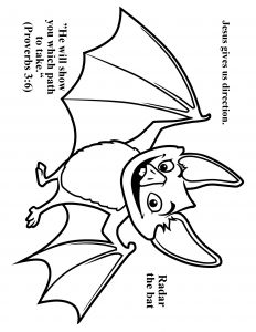 Weather Map Coloring Pages - Cave Quest Day 3 Preschool Coloring Page Radar the Bat 14g