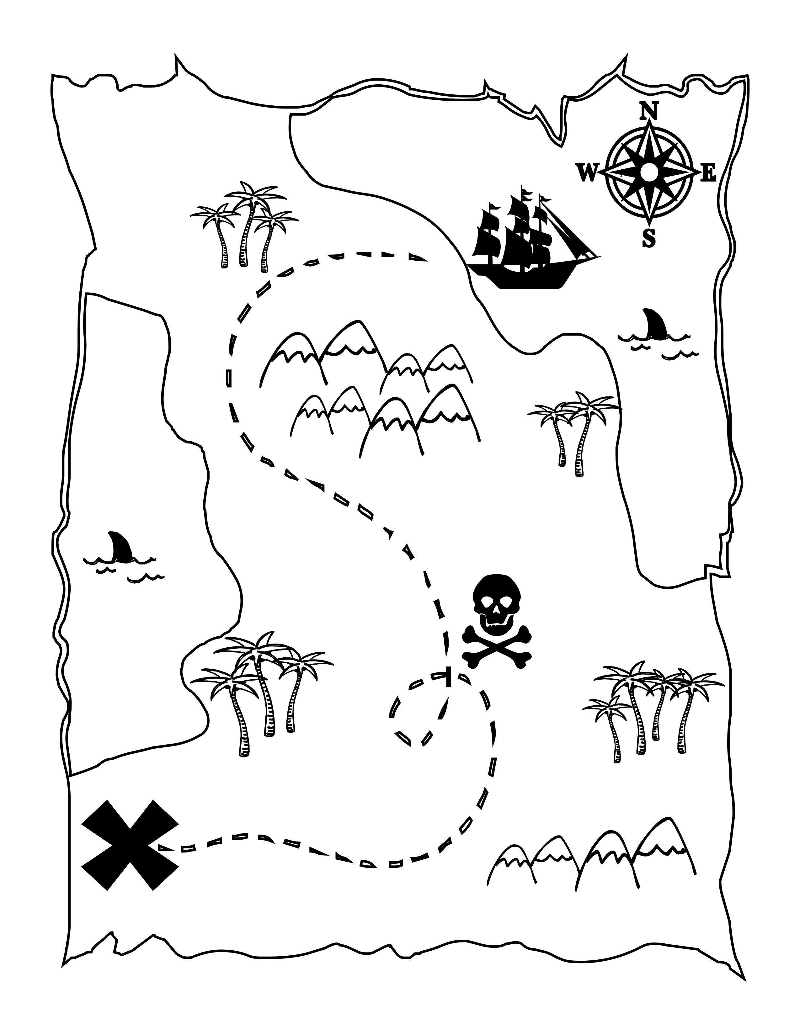 weather map coloring pages Collection-FREE Printable Pirate Map a fun coloring page for the kids lilluna  4-k