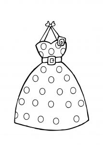 Wedding Coloring Pages to Print - Barbie Dress Coloring Page for Girls Printable Free 11h