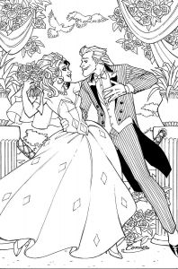 Wedding Coloring Pages to Print - Harley Quinn & Joker Wedding 15h