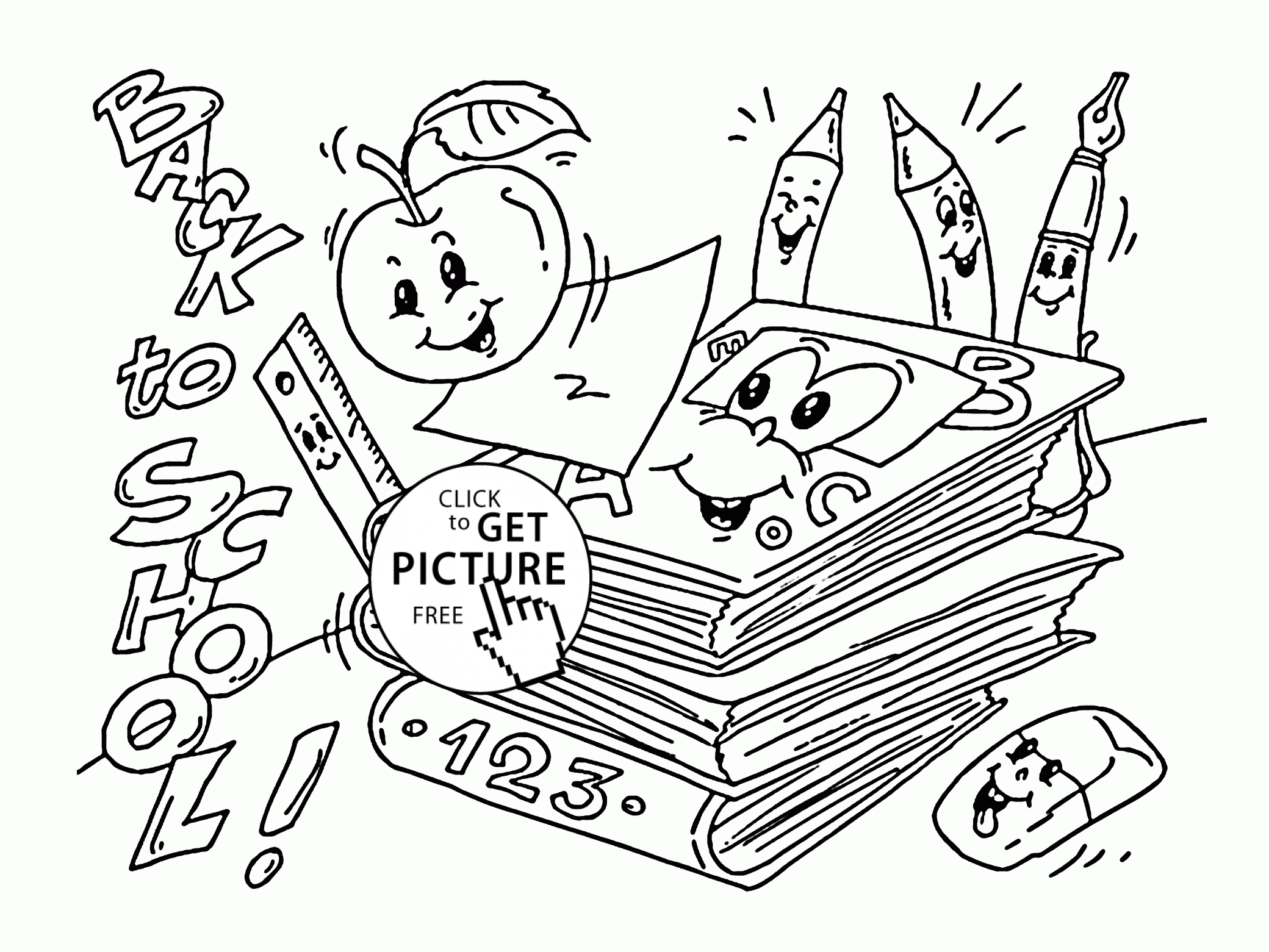20 Welcome Back To School Coloring Pages Collection