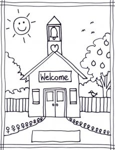 Welcome Back to School Coloring Pages - Back to School Wallpapers Beautiful Coloring Pages School House Coloring Pages Wallpaper Back to School 4l