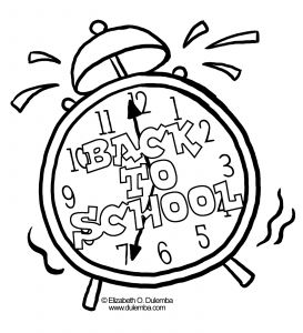 Welcome Back to School Coloring Pages - School Coloring Clock 20h