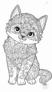 Winged Cat Coloring Pages - Cute Kitten Coloring Page More⭕ ✖️more Pins Like This E at Fosterginger 10d