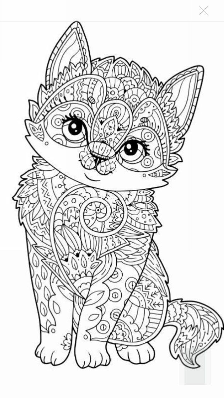 winged cat coloring pages Collection-Cute kitten coloring page More⭕ ✖️More Pins Like This e At FOSTERGINGER 10-i
