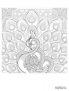 Winged Cat Coloring Pages - Peacock Feather Coloring Pages Colouring Adult Detailed Advanced Printable Kleuren Voor Volwassenen Coloriage Pour Adulte Anti Stress Kleurplaat Voor 9e