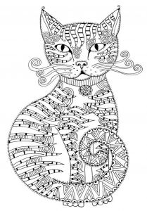 Winged Cat Coloring Pages - Cool Cat Open source Stensil and Colorign Pages Very Fun Ажурные трафареты котов 17p