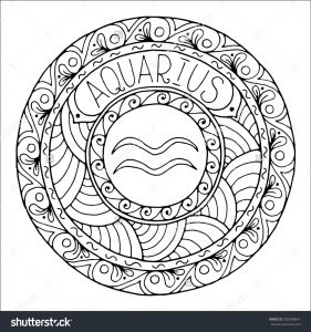 21 Zodiac Signs Coloring Pages