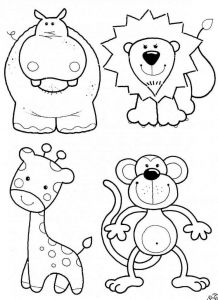 Zoo Animals Printable Coloring Pages - Ausmalbilder Tiere Einfach Free Coloring Pages Coloring Books Adult Coloring Zoo Animal Coloring 8g