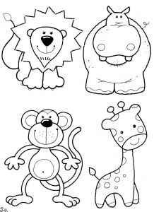 Zoo Animals Printable Coloring Pages - Zoo Animals Coloring Pictures ashleyoneill 1j